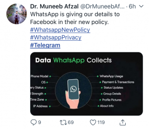Whatsapp is unsafe and unsecure
