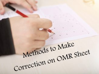 How to Make Correction in OMR sheet